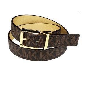 Michael Kors Reversible Logo/Gold Belt - authentic